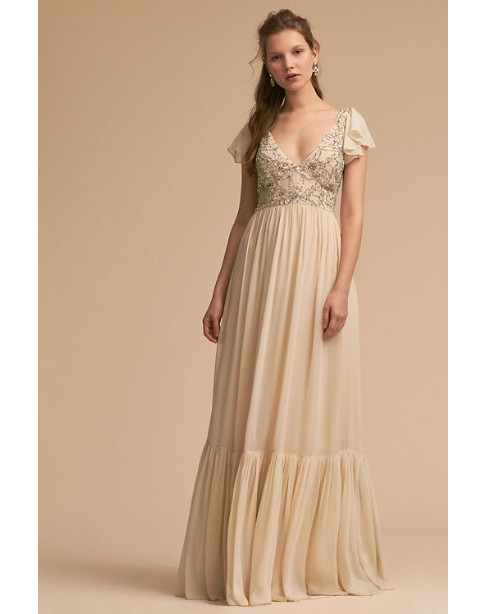 beige neutral bridesmaid dresses bhldn daphne
