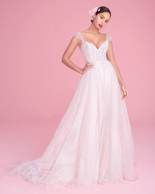 "blush by hayley paige ""amour"" wedding dress spring 2019"