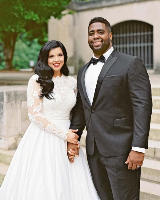 daniela emmanuel wedding maryland couple holding hands