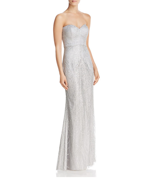 grey silver bridesmaid dresses bariano sequin
