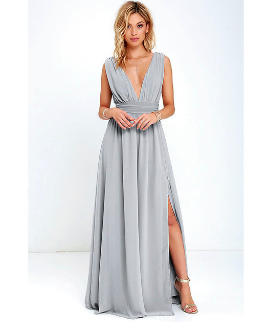 grey silver bridesmaid dresses lulus heavenly