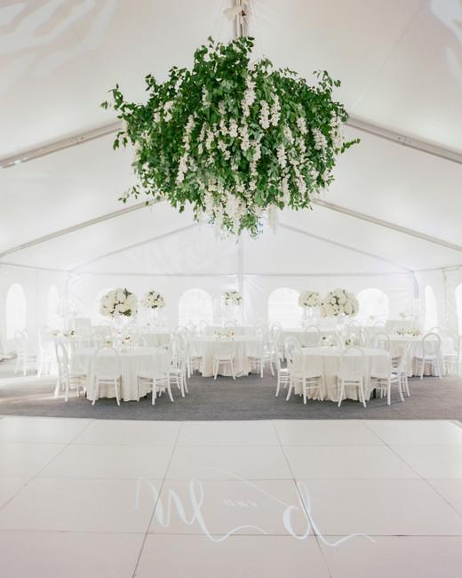 large hanging greenery decor
