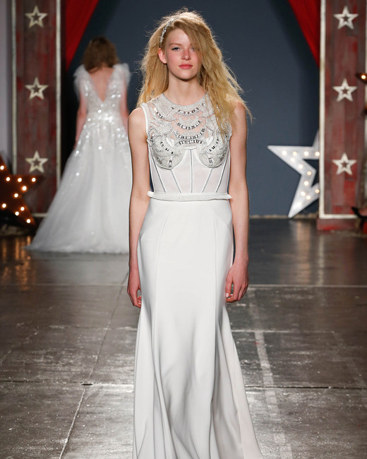 jenny packham wedding dress spring 2018 high-neck embellished bodice