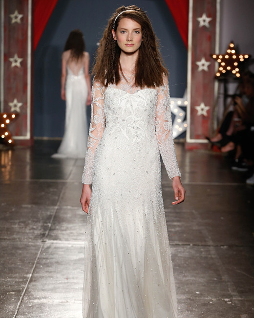 jenny packham wedding dress spring 2018 embellished long sleeves