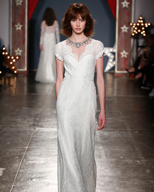 jenny packham wedding dress spring 2018 lace cap sleeves