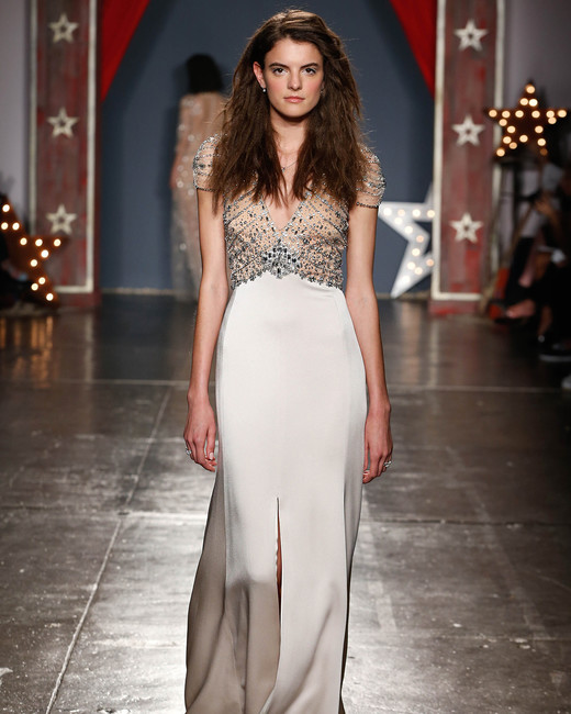 jenny packham wedding dress spring 2018 cap sleeve embroidered bodice