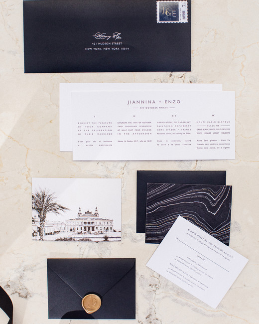 jiannina enzo wedding invitation