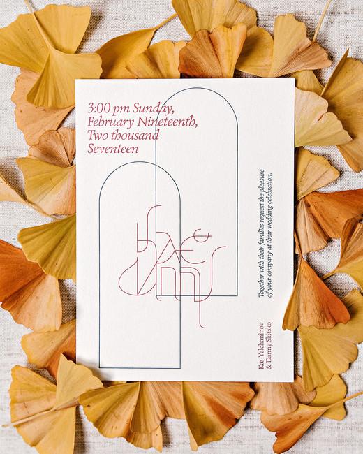 kae danny wedding invitations