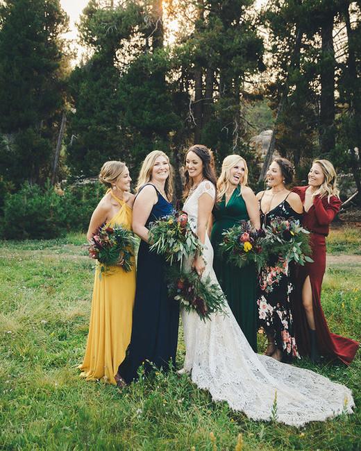 mismatched bridesmaids dresses melissa fuller