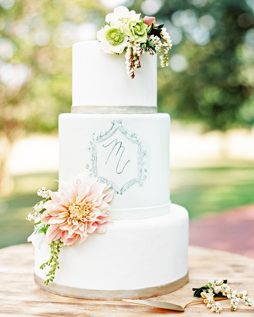 monogram wedding cake ryan ray sugar bee sweets