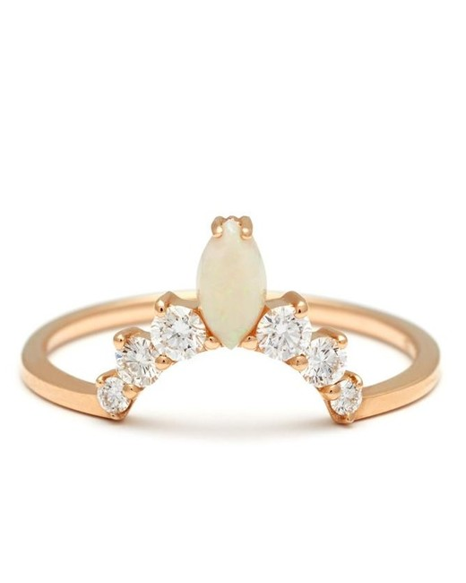 gold tierra band opal engagement ring