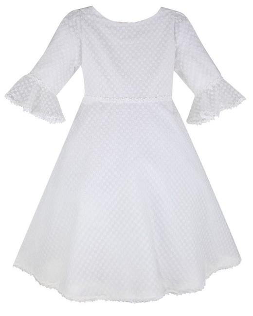 white Organza Eyelet Dress