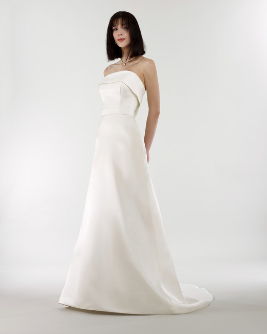 steven birnbaum bridal wedding dress spring 2019 strapless fold over a-line