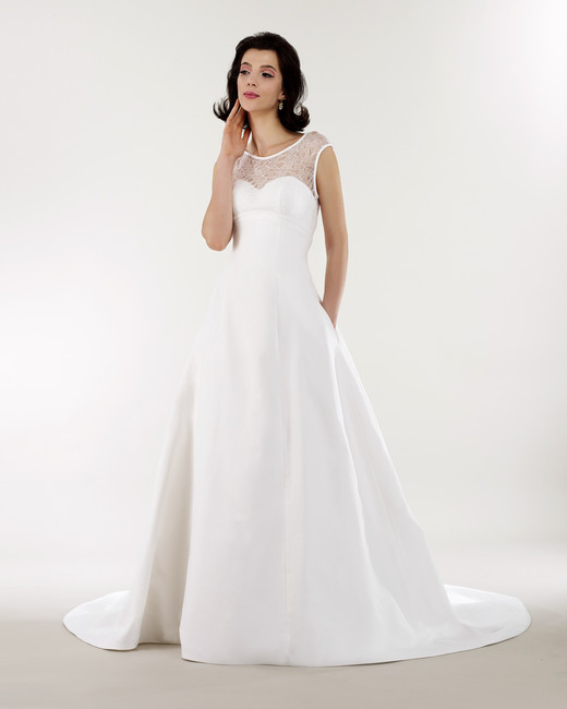 steven birnbaum bridal wedding dress spring 2019 cap sleeves illusion a-line