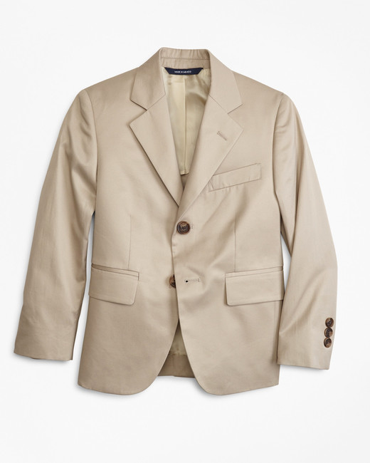 Brooks Brothers Two-Button Cotton Poplin Junior Jacket
