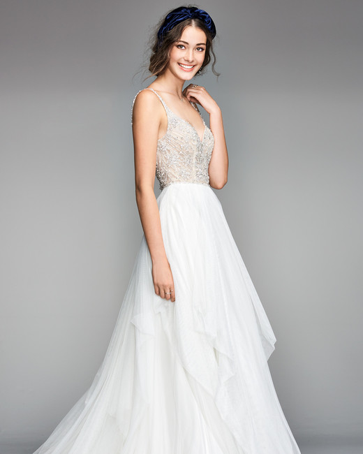 willowby by watters 2018 v-neck a-line wedding dress