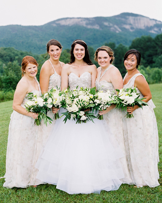 dani jackson wedding bride with bridesmaids