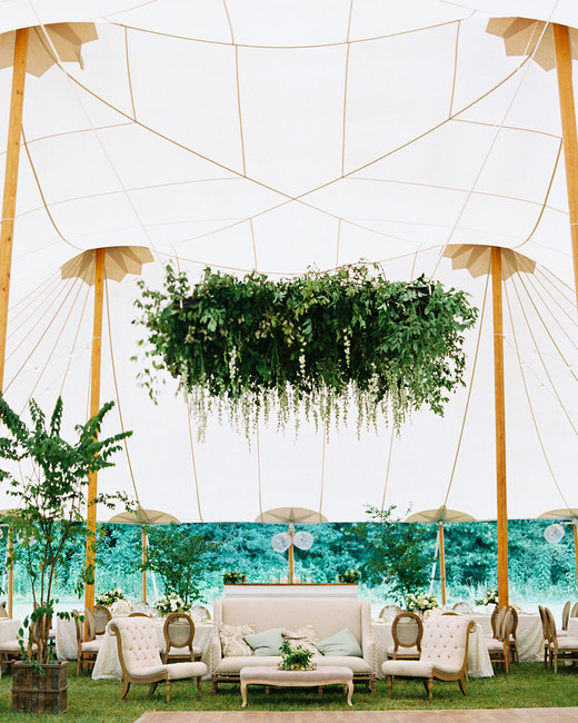dani jackson wedding reception lounge in tent
