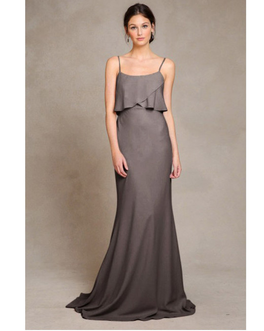 grey silver bridesmaid dresses jenny yoo blake