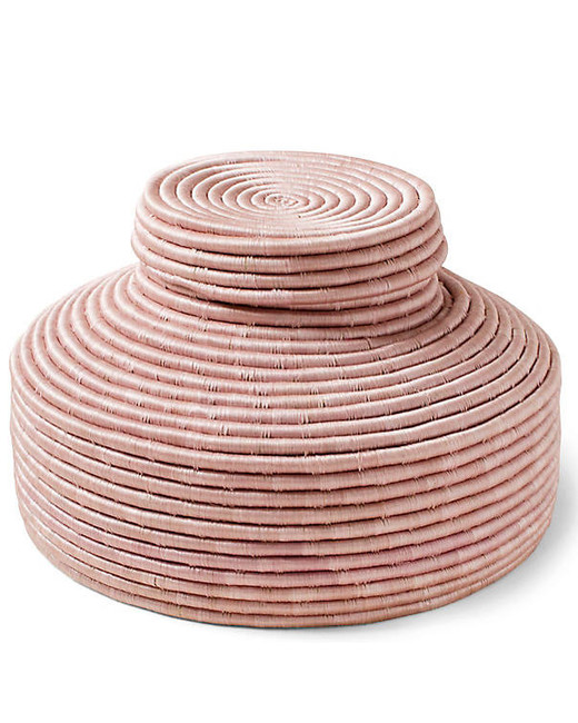 hostess gift guide pink lidded basket