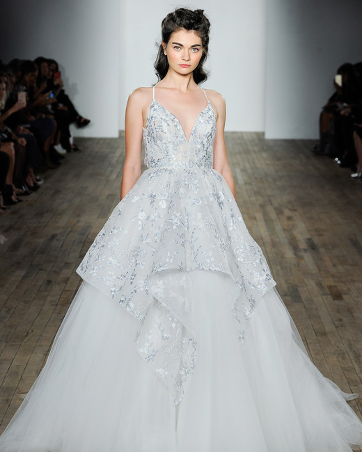 hayley paige fall 2018 glitter overlay ballgown wedding dress