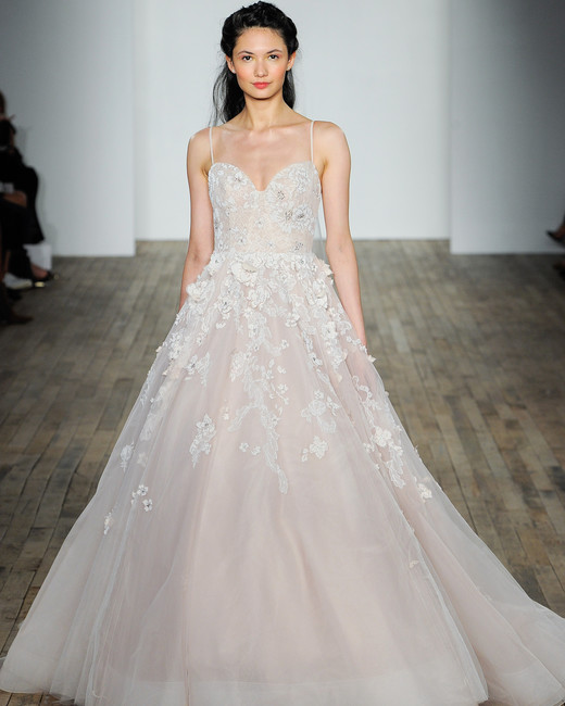 hayley paige fall 2018 sweetheart neckline wedding dress