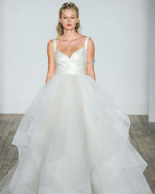 hayley paige fall 2018 chiffon ballgown wedding dress