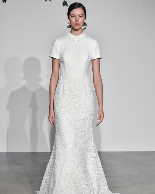 justin alexander fall 2018 cap sleeve collar wedding dress