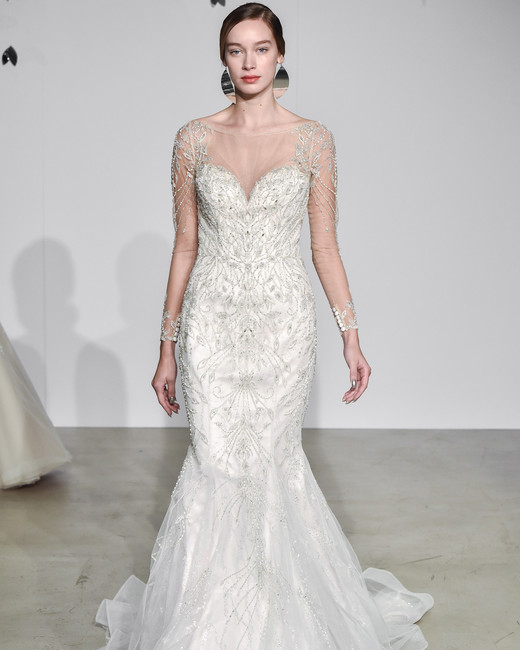 justin alexander fall 2018 sweetheart trumpet wedding dress