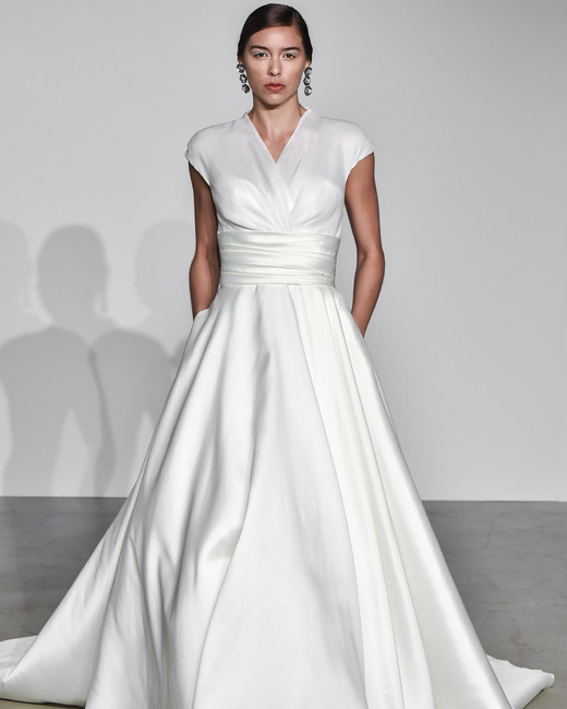 justin alexander fall 2018 wrap ballgown wedding dress