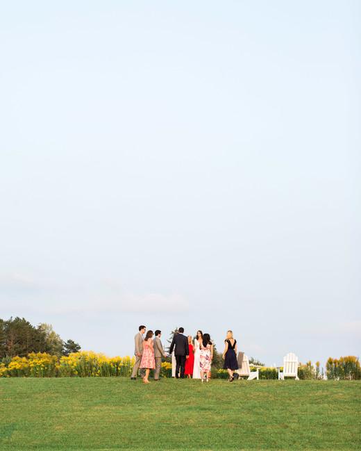kayla michael wedding cocktail hour