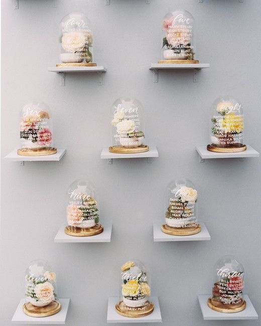 wedding seating cloche