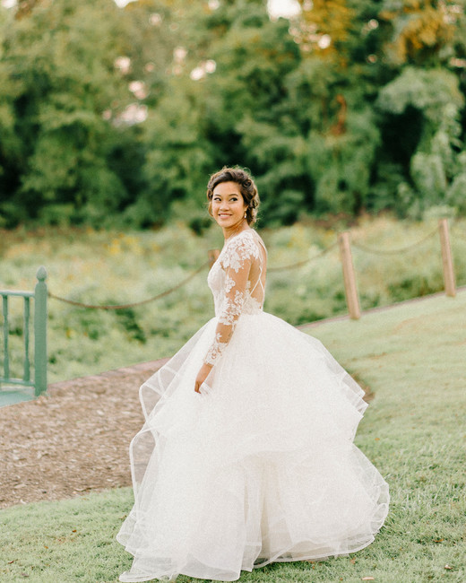 long sleeved wedding dresses ball gown