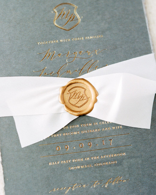 margaux patrick wedding invitation with seal