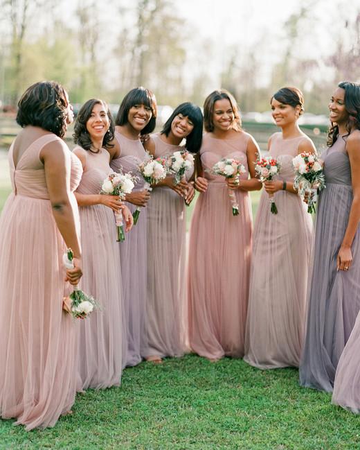 Ombre Color Bridesmaid Dresses