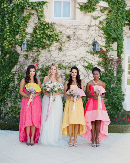 mismatched bridesmaids dresses mary jane photo