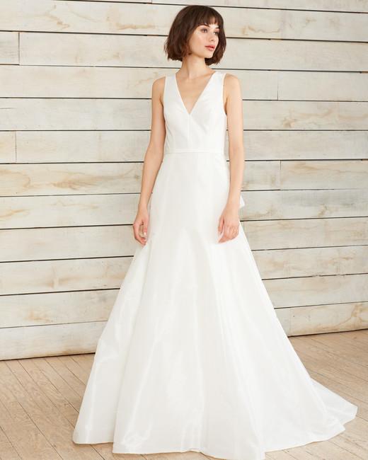 Nouvelle amsale spring 2018 wedding dress collection martha nouvelle amsale v neck a line wedding dress spring 2018 junglespirit Image collections