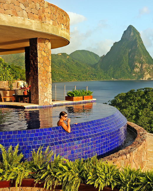 romantic destination jade mountain saint lucia