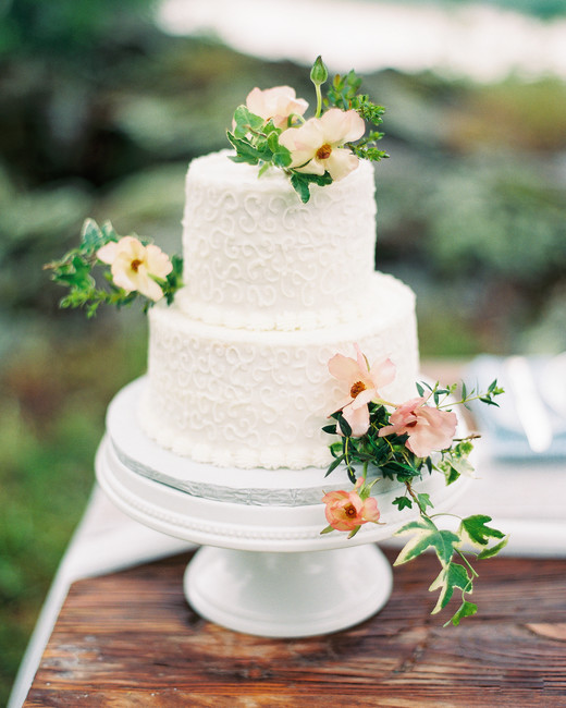 patterned cake with flowers