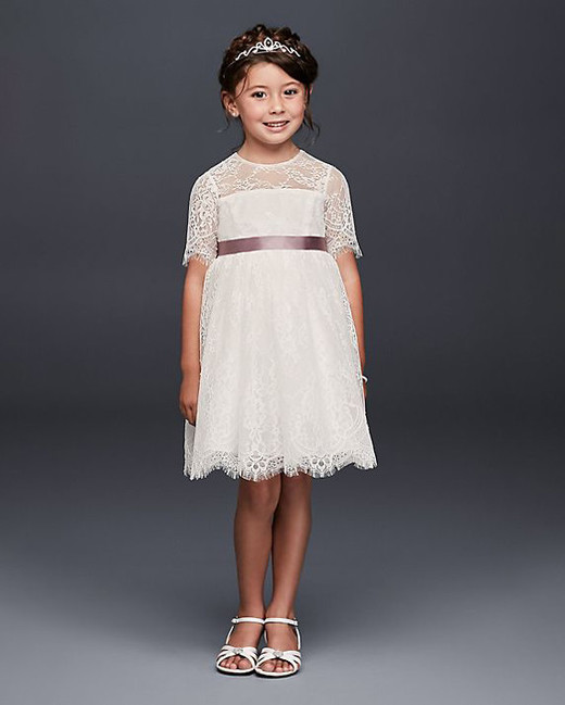 David's Bridal Lace Dress