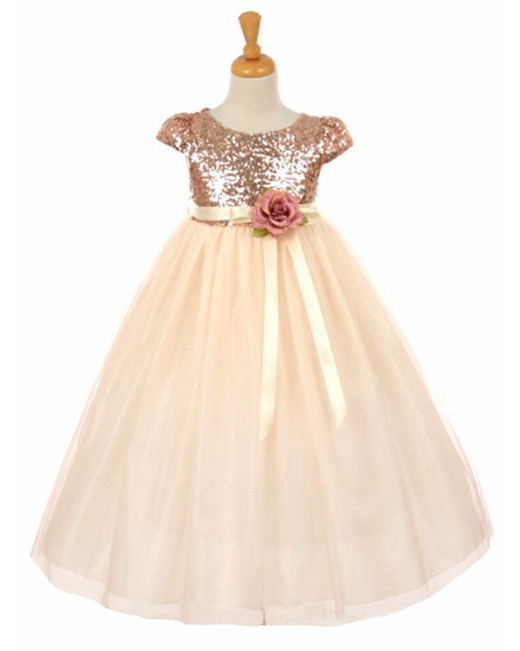 Pink Princess Sequin Dress