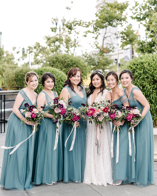stephanie tim wedding bride and bridesmaids