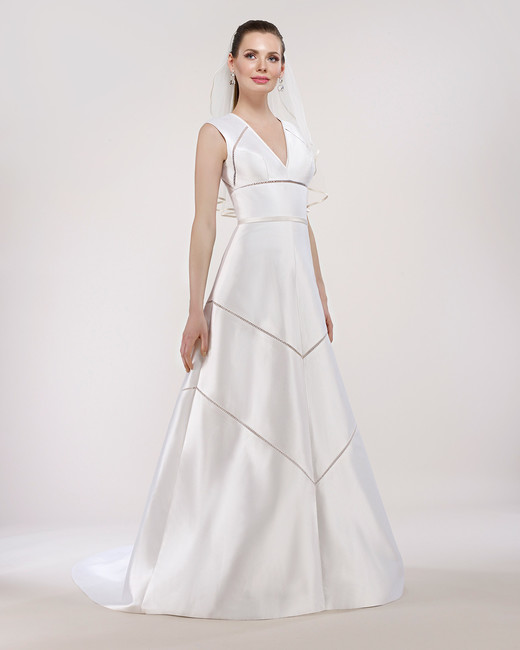 steven birnbaum wedding dress spring 2018 v-neck cut-out accents
