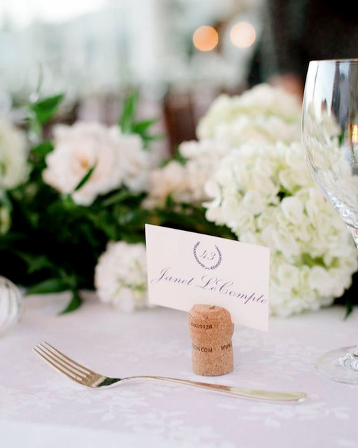 Champagne Cork place card holders