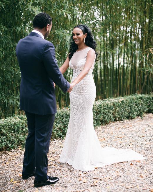 veronica mickias wedding couple first look