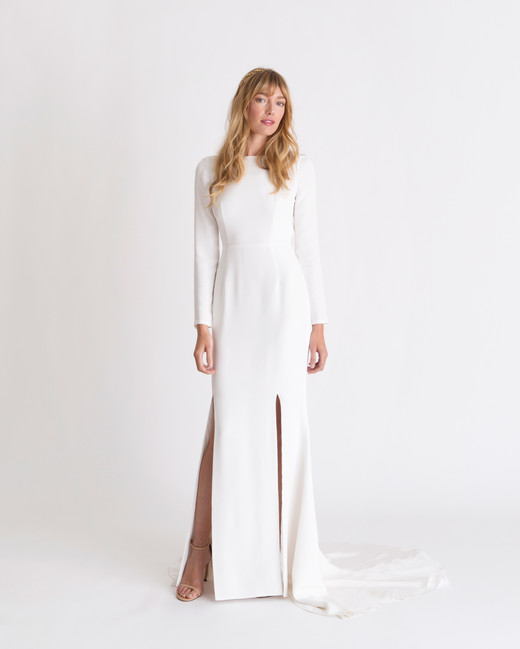 alexandra grecco long-sleeve wedding dress spring 2018