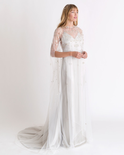 alexandra grecco sheer overlay wedding dress spring 2018