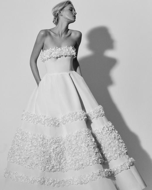 strapless a-line Carolina Herrera Wedding Dress Spring2018