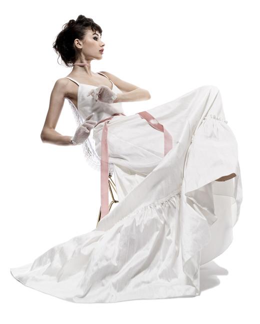 elizabeth fillmore wedding dress fall 2018 spaghetti strap a-line