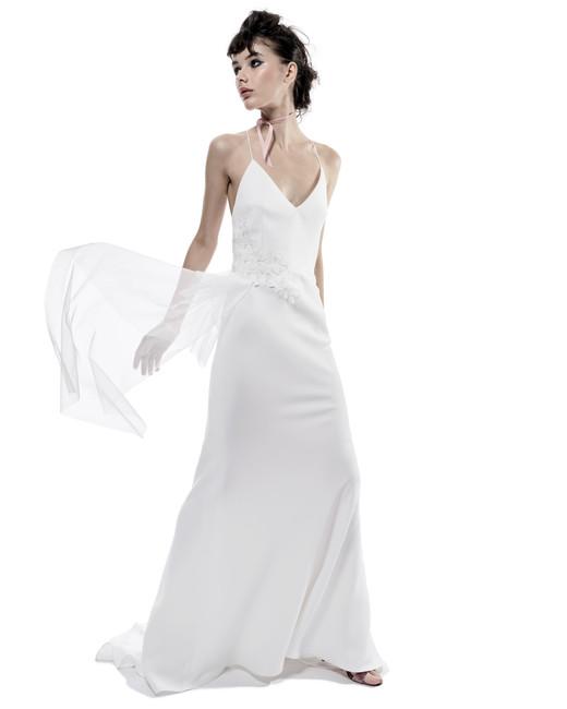 elizabeth fillmore wedding dress fall 2018 spaghetti strap v neck